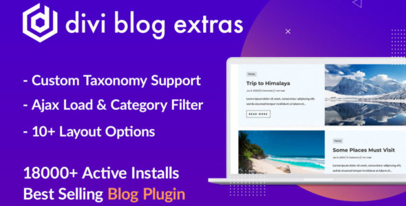 Divi Blog Extras on Divi Cake