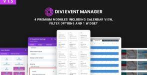 Divi Event Manager on Divi Cake