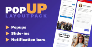 Popup Layout Pack on Divi Cake
