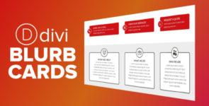 Divi Blurb Cards on Divi Cake