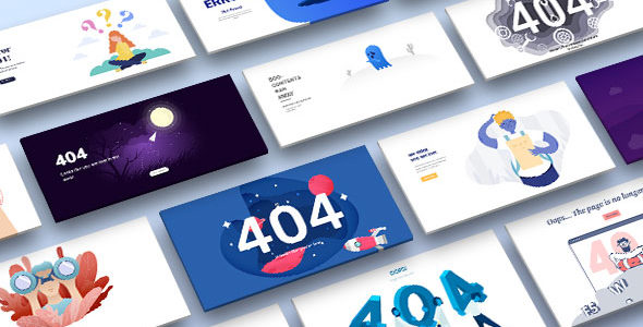 50+ Divi 404 Layouts on Divi Cake