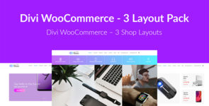 Divi WooCommerce – 3 Layout Pack on Divi Cake