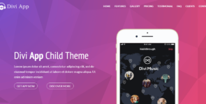 Divi App Child Theme on Divi Cake