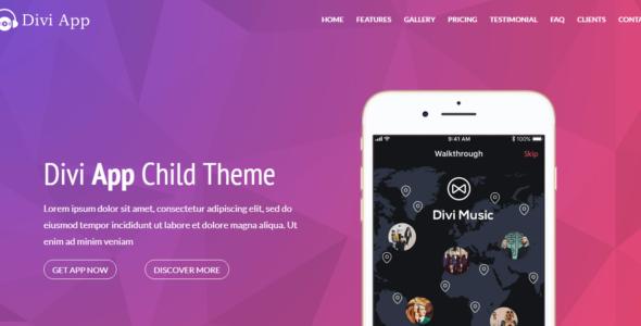 Divi App Child Theme on Divi Cake