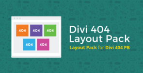 404 Page Layout Pack on Divi Cake