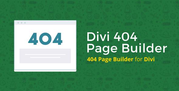 Divi 404 Page Builder on Divi Cake