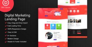 Digital Marketing Layout on Divi Cake
