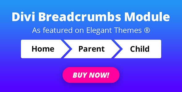 Divi Breadcrumbs Module on Divi Cake