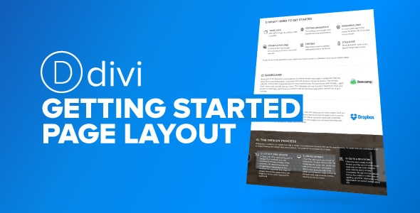 Divi Getting Started Page on Divi Cake