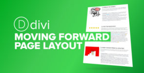 Divi Moving Forward Page on Divi Cake