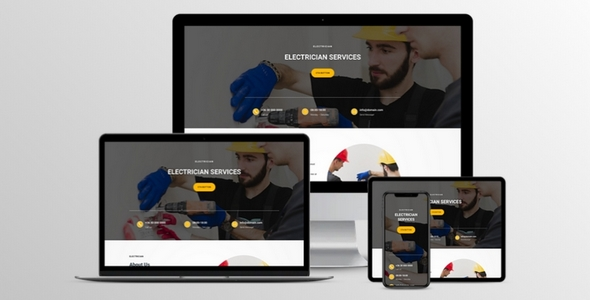 Electrician Divi Layout on Divi Cake
