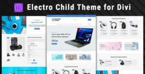 Electro – Divi Child Theme for Digital Shop on Divi Cake