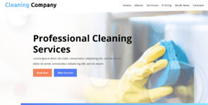 ET-Cleaning Company on Divi Cake