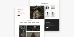 Fashion Store Divi Layout on Divi Cake