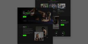 Fitness Divi Layout on Divi Cake
