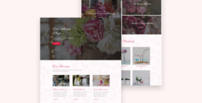 Flower Shop Divi Layout on Divi Cake