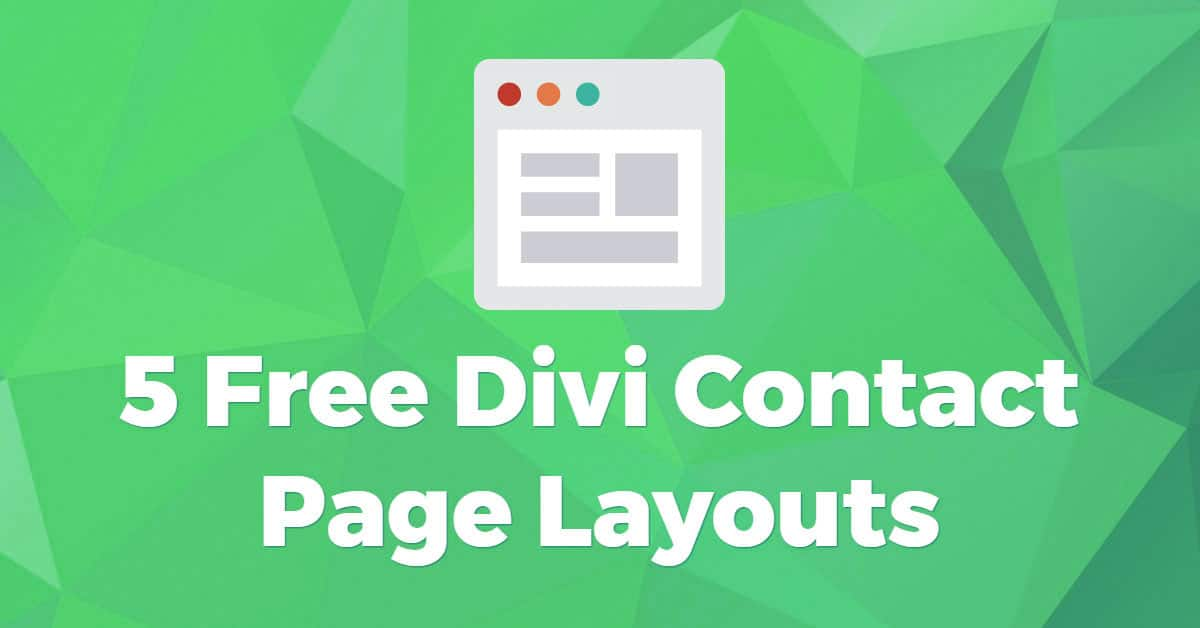 5 Free Divi Contact Page Layouts