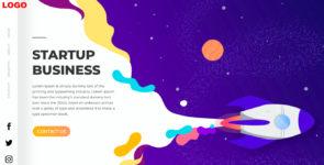 StartUp Business Digital IT Agency Landing Page with Vertical navigation menu on Divi Cake