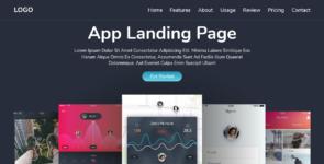 Responsive App Landing Page on Divi Cake