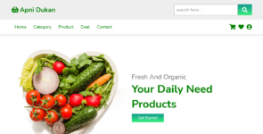 Responsive Grocery Website Landing Page on Divi Cake