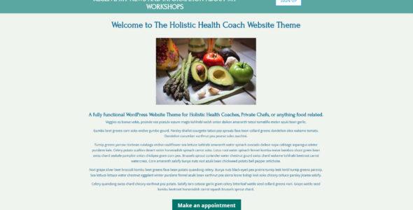 Holistic Health Coach Website Theme on Divi Cake