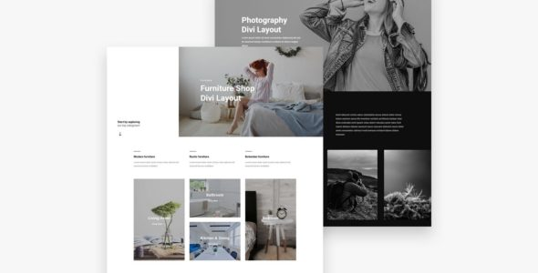 Homepage 25 Divi Layout Pack on Divi Cake