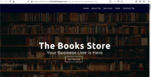 MTH Landing Page Layout For Books Store on Divi Cake