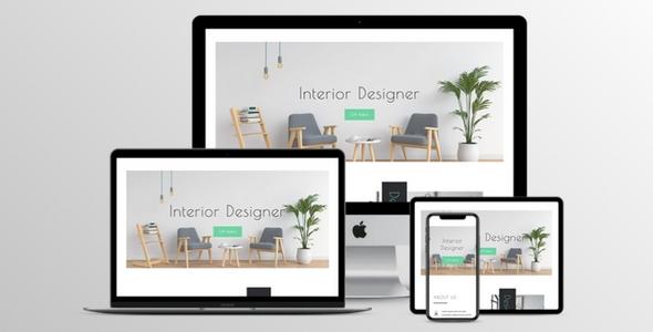 Interior Designer Divi Layout in 2 color schemes on Divi Cake