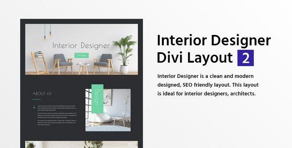 Interior Designer Divi Layout 2 on Divi Cake