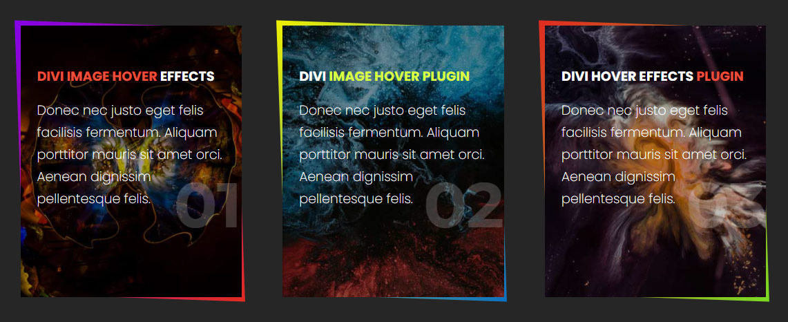 Minimal Hover effects