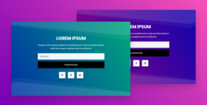 Email Optin Section With Animated Gradient Background on Divi Cake