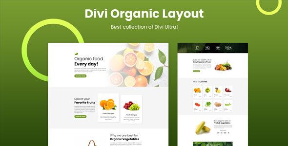 Divi Organic Layout on Divi Cake
