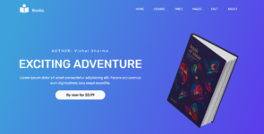 Online Single Book Store on Divi Cake