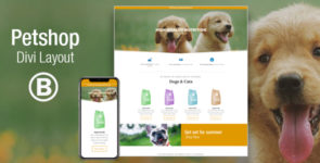 Petshop – Beautiful Divi Layout on Divi Cake