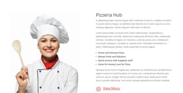 The Divi Pizzeria Layout on Divi Cake