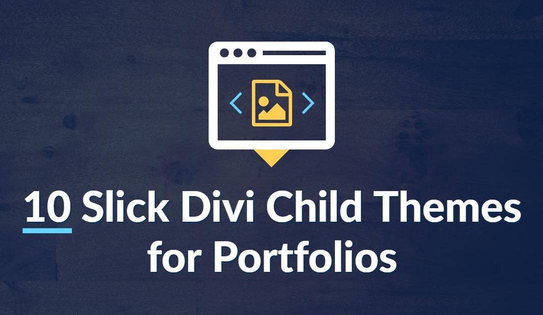 10 Slick Divi Child Themes for Portfolios