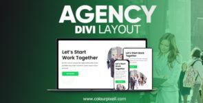 Divi Agency Layout on Divi Cake