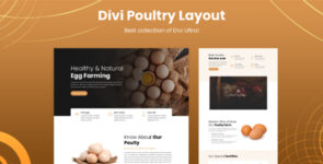 Divi Poultry Layout on Divi Cake
