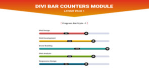 Divi Bar Counters Module Layout Pack 1 on Divi Cake