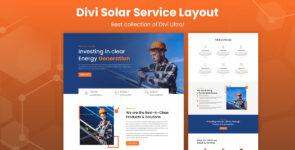 Divi Solar Service Layout on Divi Cake