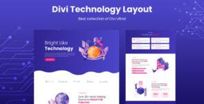 Divi Technology Layout on Divi Cake