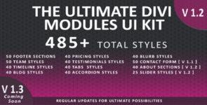 The Ultimate Divi Modules Ui Kit on Divi Cake