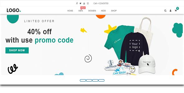Shopping E-Commerce Website on Divi Cake