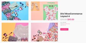 Divi Layouts for WooCommerce on Divi Cake
